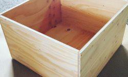 針葉樹合板の木箱